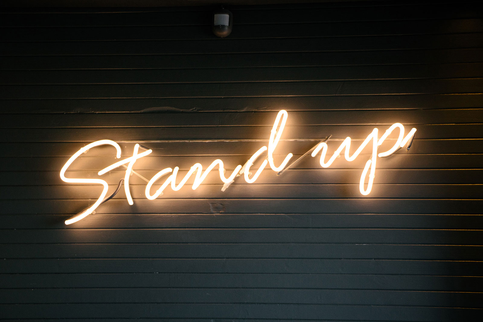 Stand up sign